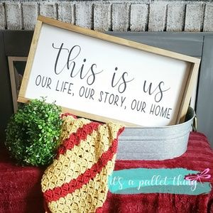 This is us farmhouse framed sign